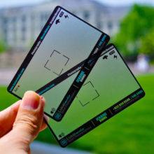 Прозрачная матовая визитка для фотографа
