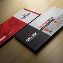 Красно-чёрный макет с нюансными оттенками в фоне