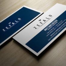 Классическая синяя визитка в PSD