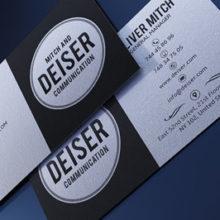 Хипстер визитка в PSD и двухцветном исполнении
