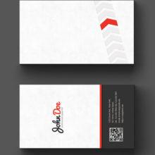 Стильный серый макет визитной карточки в формате фотошоп