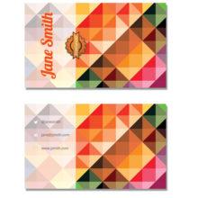 Шаблон визитки с цветной мозаикой