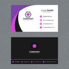 Макет двусторонней бизнес визитки в фотошопе