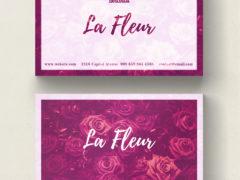 Симпатичная цветочная визитная карточка PSD