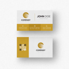Дизайн Золотой визитки PSD