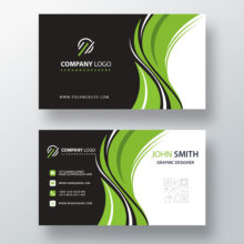 PSD шаблон визитной карточки