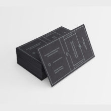 Черный дизайн визитной карточки PSD для директора