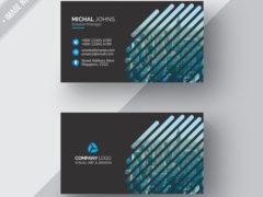 Черная геометрическая визитка PSD для автосервиса