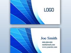 Синий дизайн визитной карточки PSD