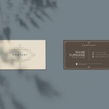 Классический дизайн макета визитки PSD