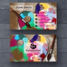 Визитная карточка для художника PSD