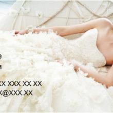 Шаблон визитки для свадебного фотографа